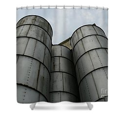 Shower Curtain featuring the photograph Three Silos by Jane Ford