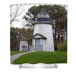 Three Sisters Light Shower Curtain by Catherine Gagne