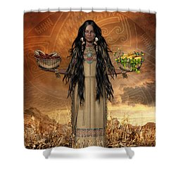 Three Sisters Shower Curtain by Shanina Conway