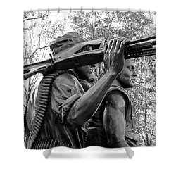 Three Soldiers In Vietnam Shower Curtain by Cora Wandel
