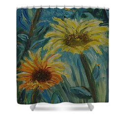 Three Sunflowers - Sold Shower Curtain