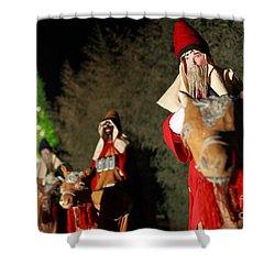Three Wise Men Shower Curtain by Gaspar Avila