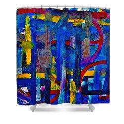 Anchored In Art Shower Curtain by Lisa Kaiser