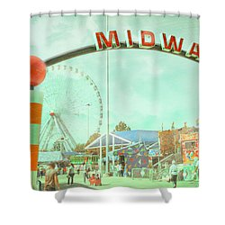 Thrills Of The Midway Shower Curtain by David and Carol Kelly