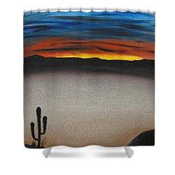 Thriving In The Desert Shower Curtain by Sayali Mahajan