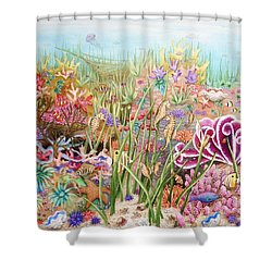 Thriving Ocean  Shower Curtain by Katherine Young-Beck