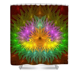 Throne Of The Queen Of Flowers Shower Curtain