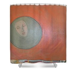 Shower Curtain featuring the painting Through A Mirror Darkly by Sharyn Winters