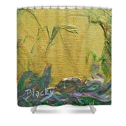 Through A Sunlit Veil Shower Curtain by Donna Blackhall