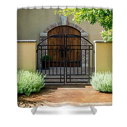 Through Gates And Doors Shower Curtain