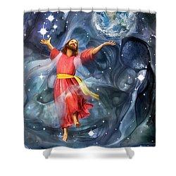 Through Him Shower Curtain