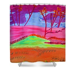 Shower Curtain featuring the painting Through My Eyes by Meryl Goudey