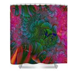 Shower Curtain featuring the digital art Through The Electric Garden by Elizabeth McTaggart