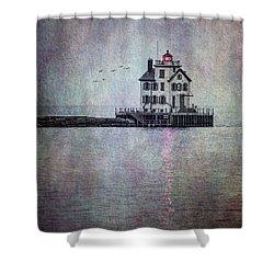 Through The Evening Mist Shower Curtain