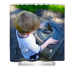 Through The Eyes Of A Child Shower Curtain by Charlie and Norma Brock