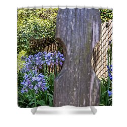 Shower Curtain featuring the photograph Through The Fence by Kate Brown