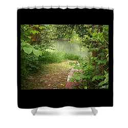 Shower Curtain featuring the photograph Through The Forest At Water's Edge by Absinthe Art By Michelle LeAnn Scott