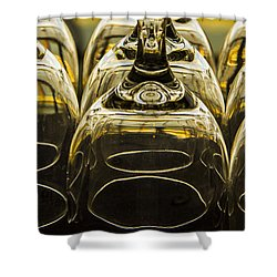 Through The Glasses Shower Curtain by Jean Noren