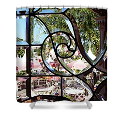 Through The Looking Glass Shower Curtain by Linda Shafer