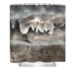 Through The Mist Shower Curtain by Jack Zulli