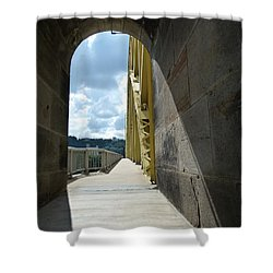Through The Portal Shower Curtain by Jane Ford