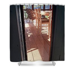 Through The Screen No 2 Shower Curtain