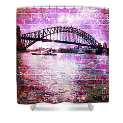 Sydney Harbour Through The Wall 1 Shower Curtain