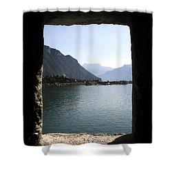 Through The Windows Shower Curtain