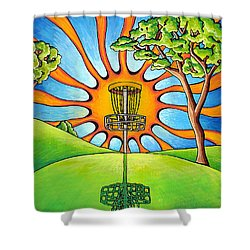 Throw Into The Light Shower Curtain