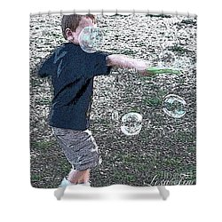 Shower Curtain featuring the photograph Throwing Bubbles by Lesa Fine