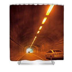 Thru The Tunnel Shower Curtain by Karol Livote
