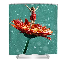 Thumbelina All Grown Up Shower Curtain by Nikki Marie Smith