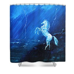 Thunder And Lightning Shower Curtain by Patricia Olson