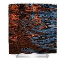 Thunder N Lightning Shower Curtain by Donna Blackhall
