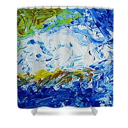 Thunder Of The Sea Shower Curtain