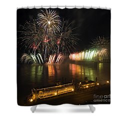 Thunder Over Louisville - D008432 Shower Curtain by Daniel Dempster