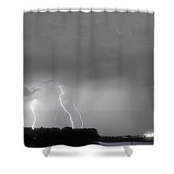 Thunder Rolls And The Lightnin Strikes Bwsc Shower Curtain by James BO  Insogna
