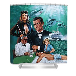 Thunderball Shower Curtain