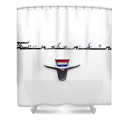 Thunderbird Tag Shower Curtain by Jerry Fornarotto