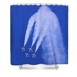 Thunderbirds Diamond Formation Downwards Shower Curtain