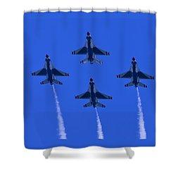 Thunderbirds Diamond Formation Undersides 2 Shower Curtain