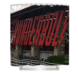 Thunderbolt Roller Coaster Shower Curtain