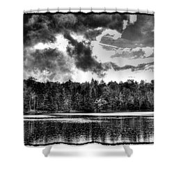 Thunderclouds Over Cary Lake Shower Curtain by David Patterson