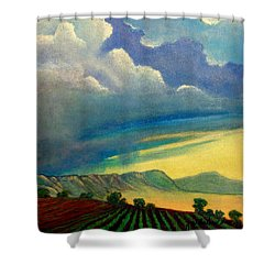 Thunderhead Shower Curtain by Jim Whalen