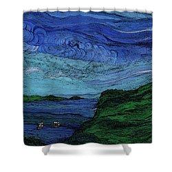 Thunderheads Shower Curtain by First Star Art
