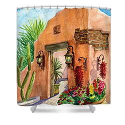 Tia Rosa Time Shower Curtain