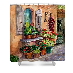 Tia Rosa's Place Shower Curtain