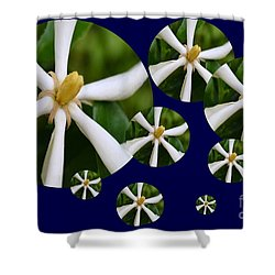 Shower Curtain featuring the photograph Tiare Pinwheels by Darla Wood