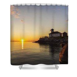 Tibbetts Point Lighthouse Shower Curtain