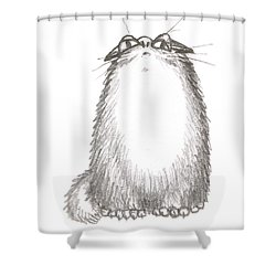 Tibby Anxious Shower Curtain